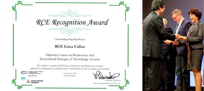 Reconocimiento a organizaciones y personas que contribuyeron al Diplomado en Biodiversidad y Saberes Interculturales premiado por UNU